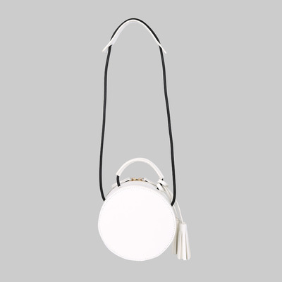 Trixie small tassel cross body (white) by melie bianco