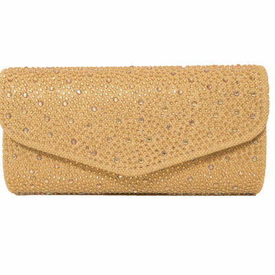Jolene evening bag (gold) by melie bianco