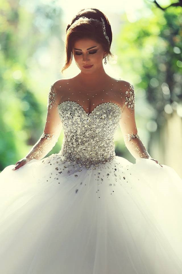 Luxury Wedding Dress Ball Gown Wedding Dress Cheap Wedding Dress