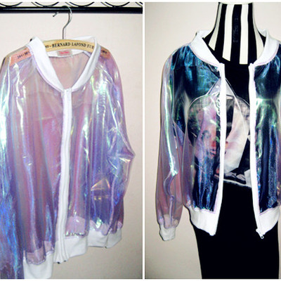 Chaqueta holográfica / holographic jacket wh012