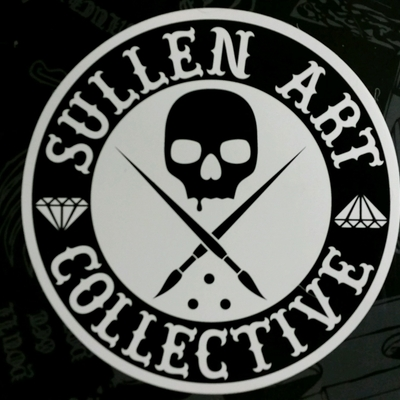 "Sullen badge sticker (4"" diameter)"