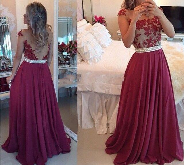 Marroon Cheap Prom Dresses