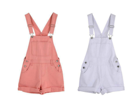 Pink White Denim Overalls on Storenvy
