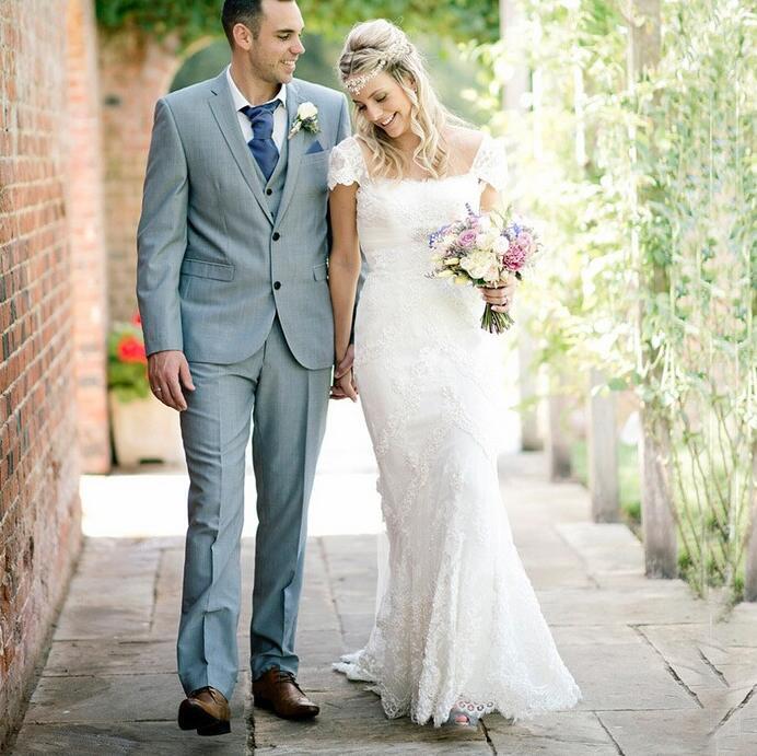 Wedding Dresswedding Gowncap Sleeves Wedding Dresslace Wedding