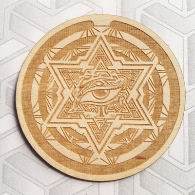 "3"" merkaba eye sticker"