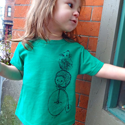 Hedgehog shirt, gift for kids, t shirt, toddler shirt, green tee, hedgehog tee, kids shirt, graphic tee, toddler tee, hedgehog gift