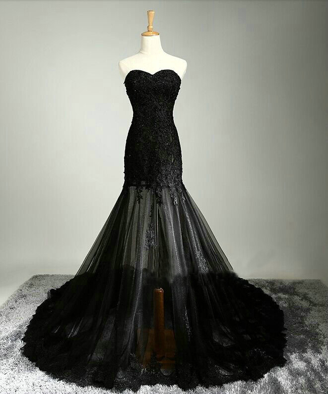 Black Mermaid Prom Dresses Floor Length pst0289 · BBDressing ...