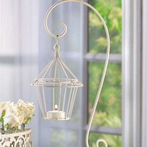 Swinging Birdcage Candle Lantern - Great for wedding or home decor! Set of 4