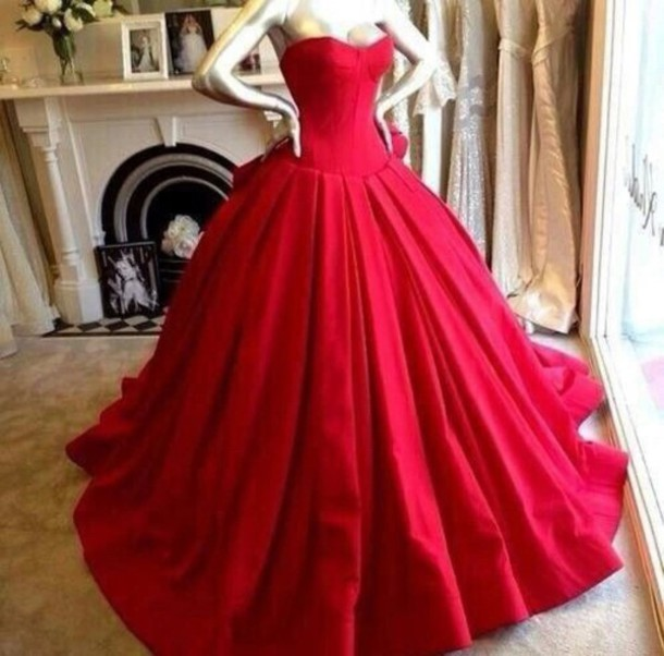 Beauty Sweetheart Red Charming Prom Dress Fashion Glorious Ball Gown ...