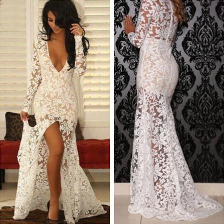Sexy White Evening Dress