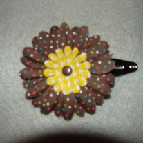 Brown Poka Dot Hair Clip