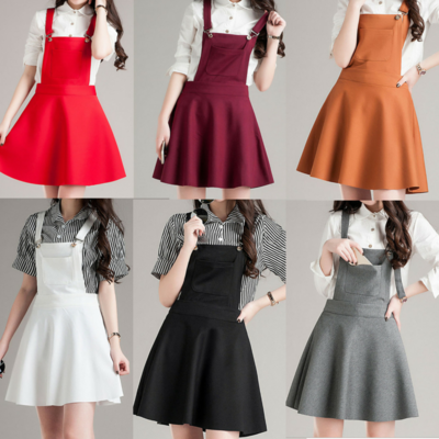S-4xl 6 colors sweet pretty suspender skirt sp165659