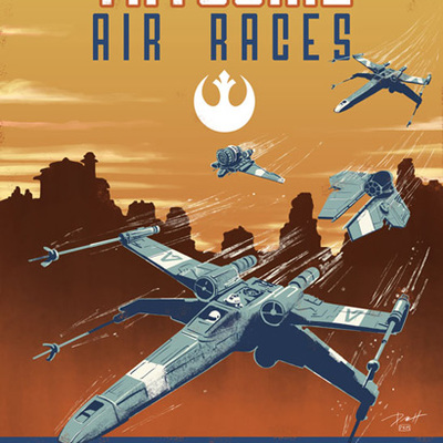 Tatooine air race print