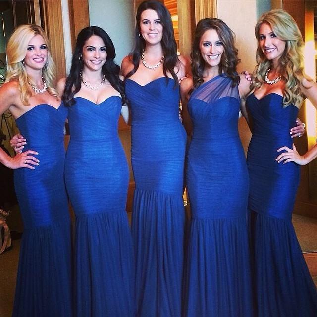 Sweetheart Royal Blue Bridesmaid Dresses