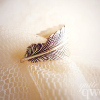 Whimsical Feather Wrapped Ring (Size 6/7/8)