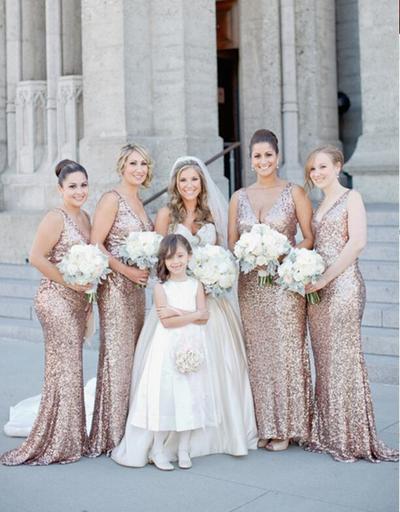 Sequins Bridal Dresses