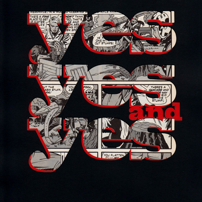 Yes, yes and yes poster - comic - black and red