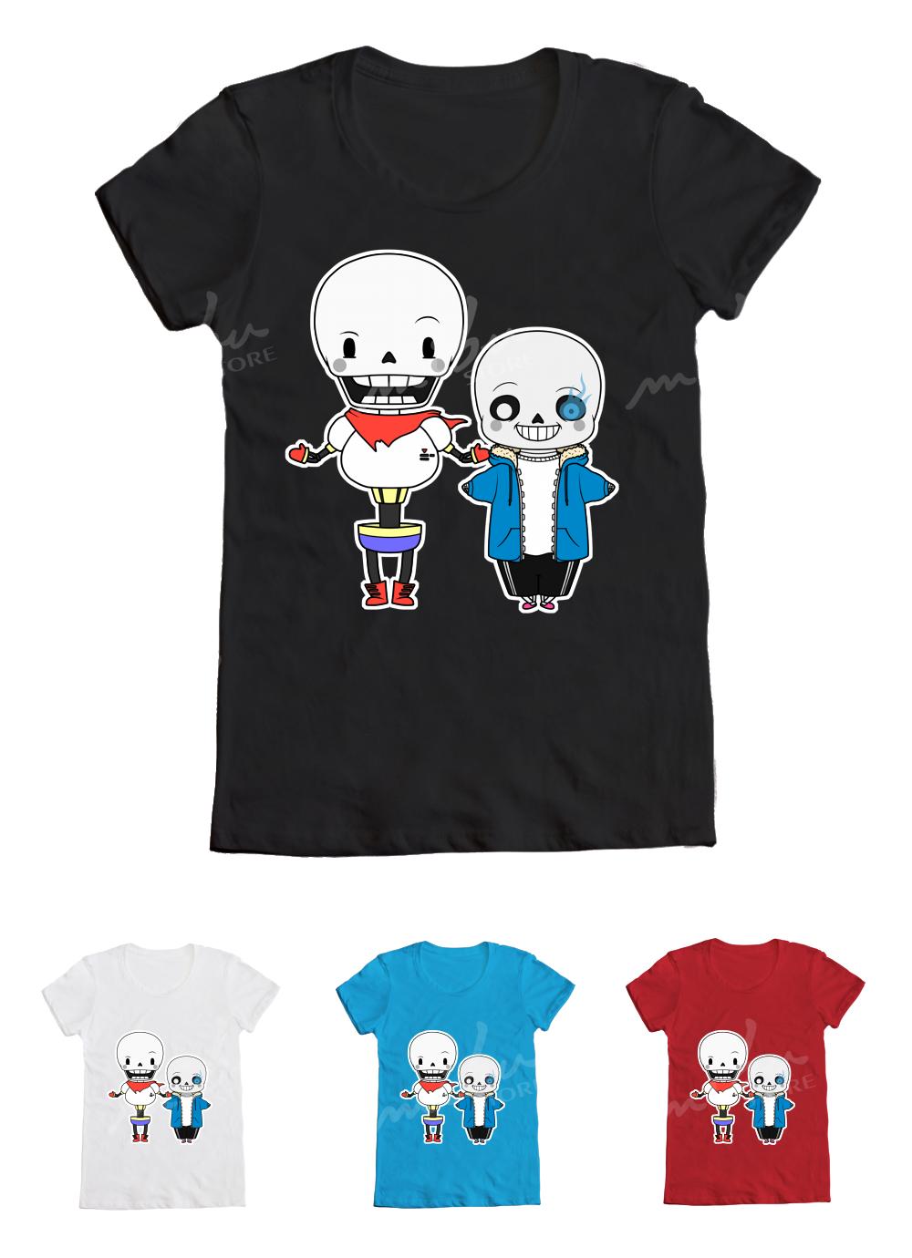 Mibustore Custom T Shirts Undertale Papyrus Sans