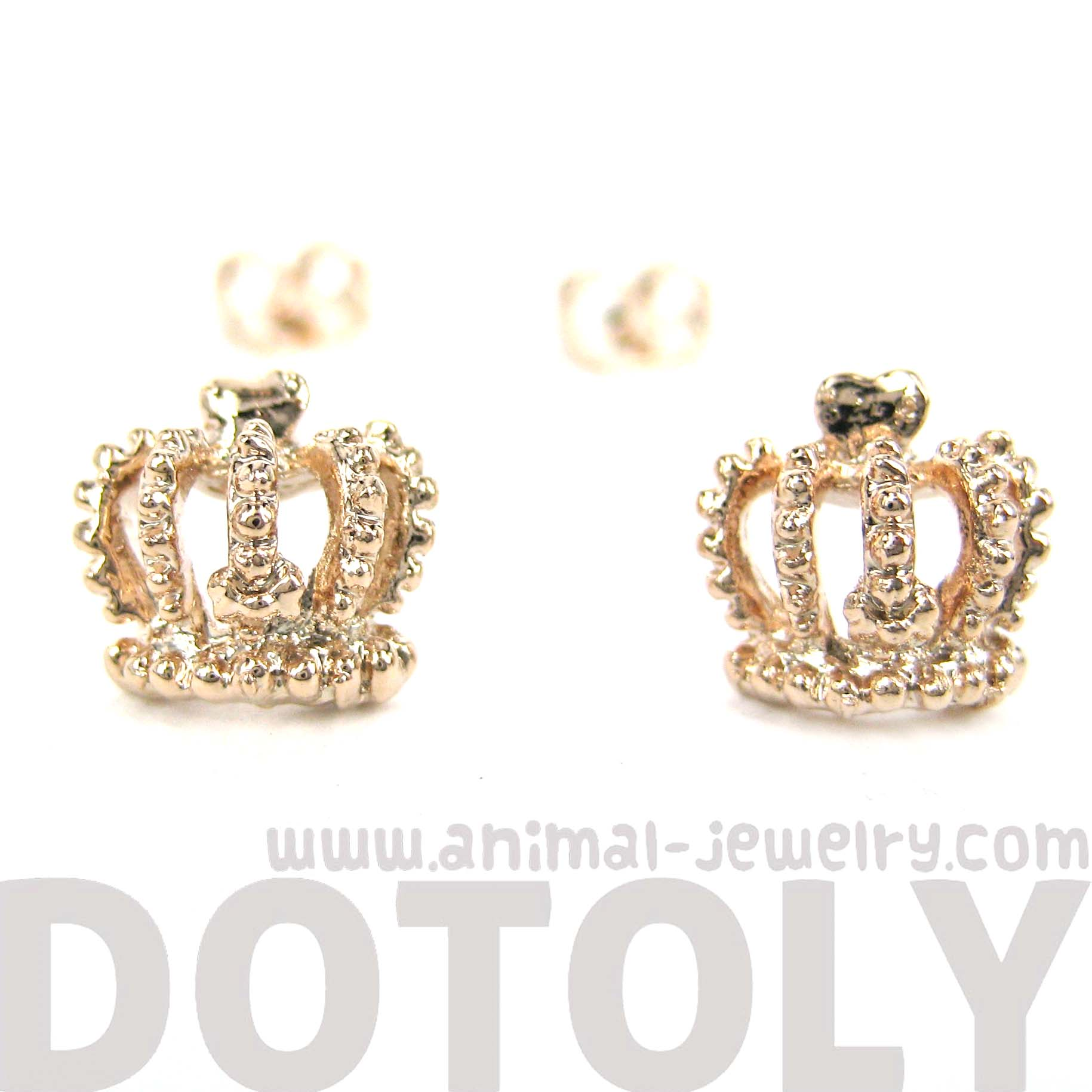 gold color stud jewelry earrings heart rose from crystal earring alloy top steel pin women crown girls with quality in item austrian paved