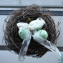 Bird Nest Ring Bearer Holder