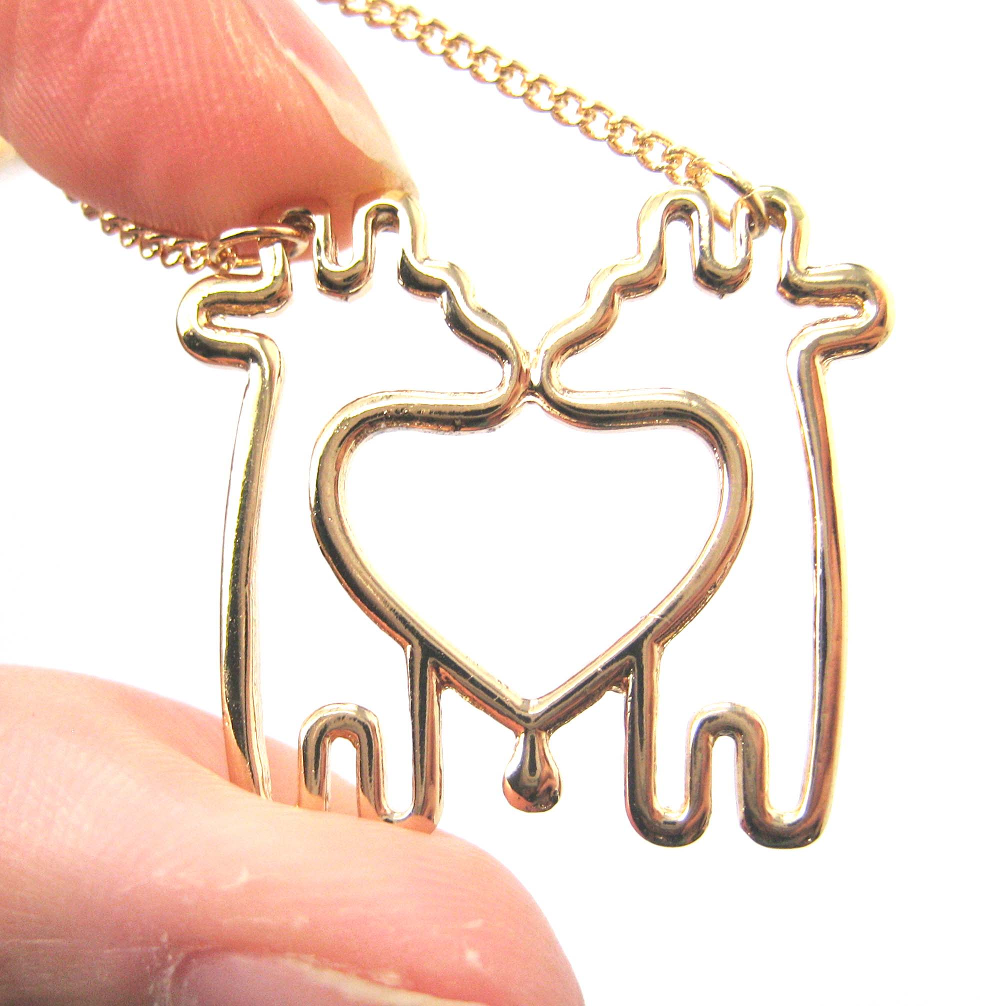 necklace pendant products wikiwii crystal white giraffe