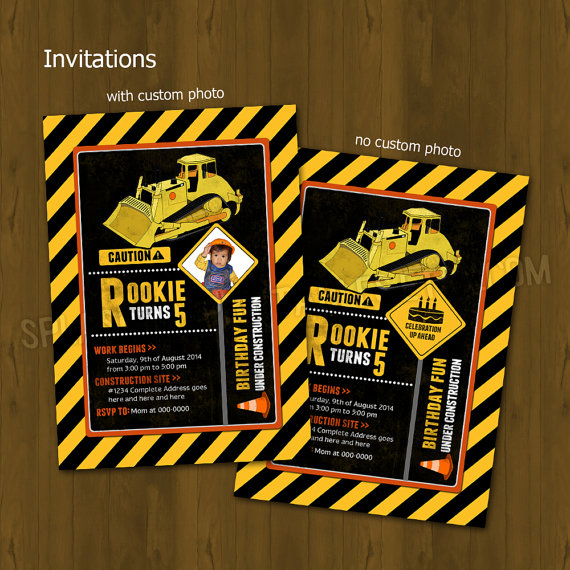 Construction Worker Party Invitation