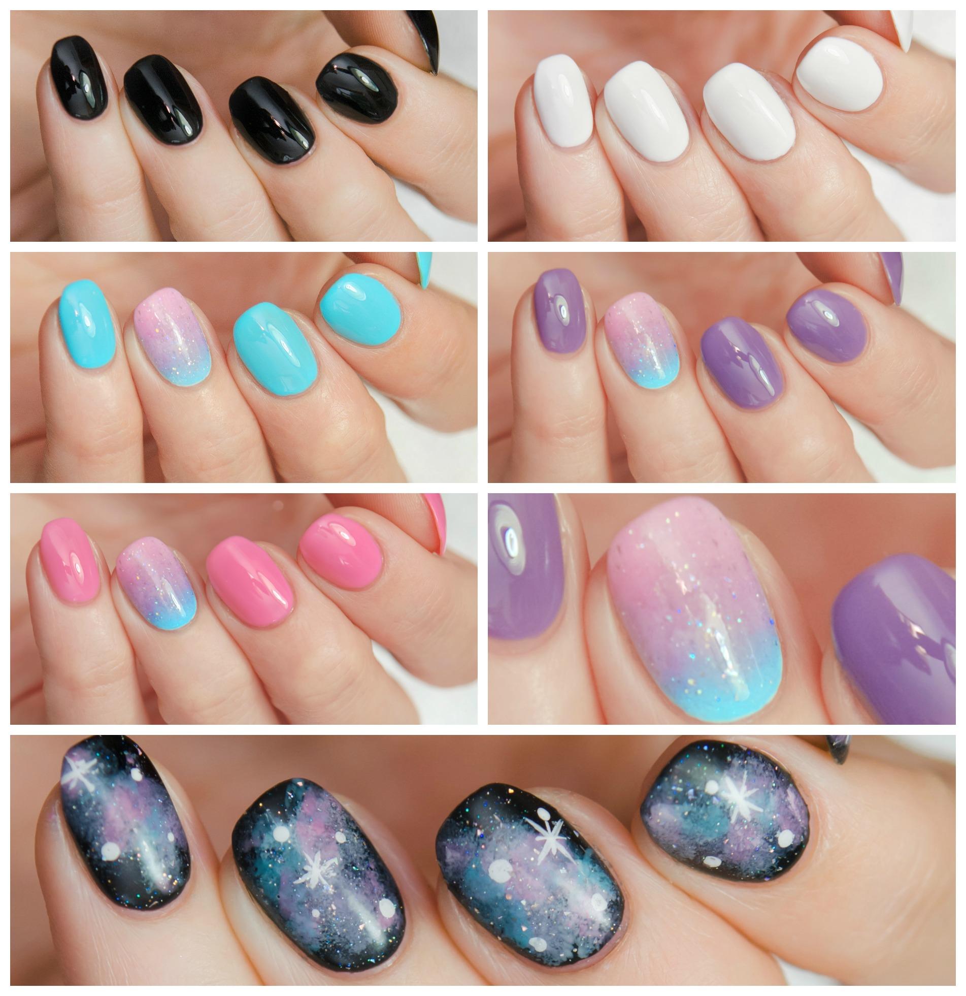 MINI Galaxy Nails Collection - custom creme holographic glitter ...