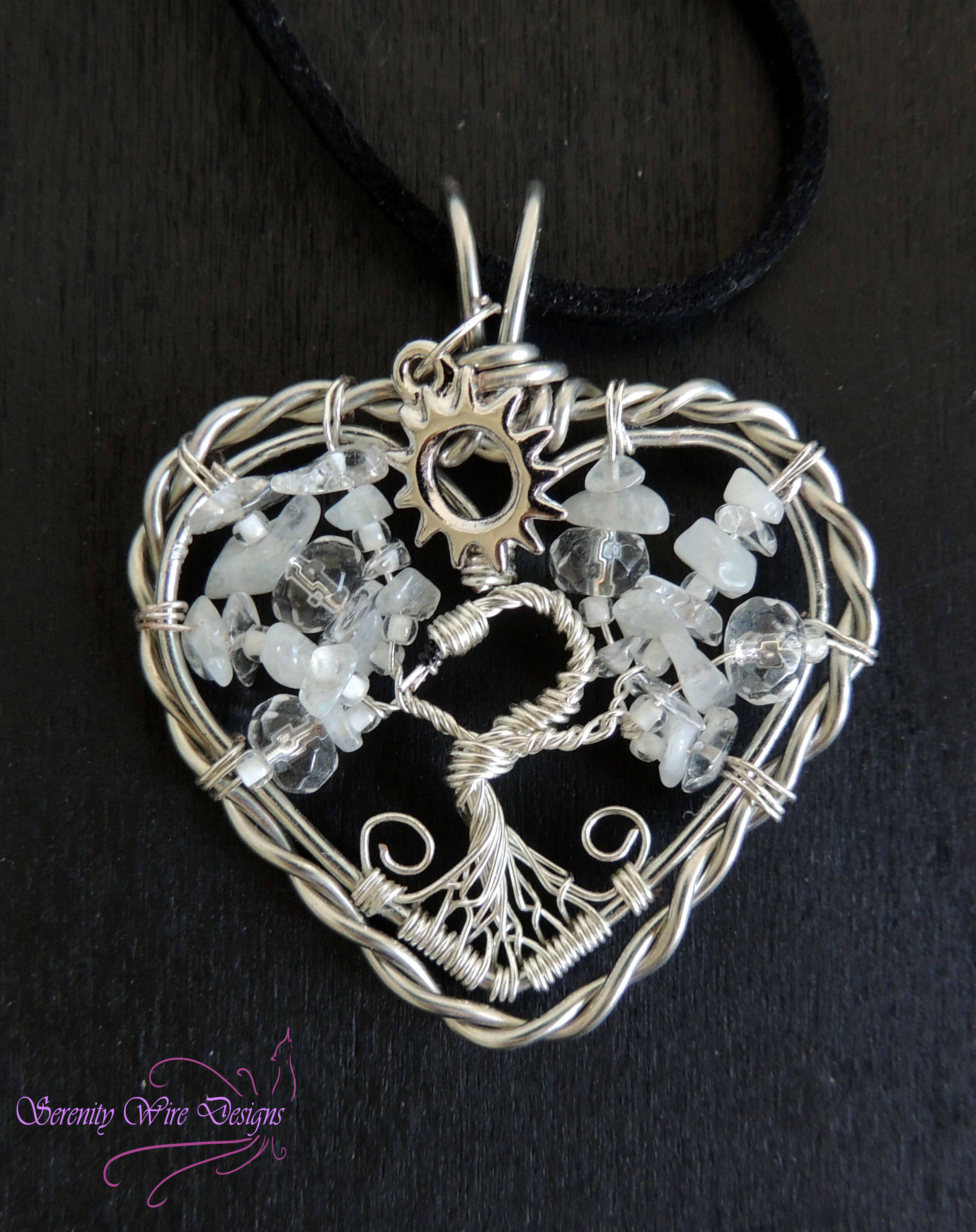 Swan Lake Odette Tree of Life Pendant · Serenity Wire Designs ...