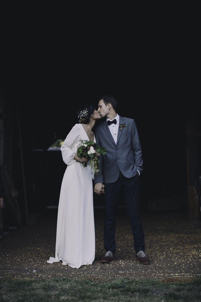 Wedding dress,simple design bridal gown,chiffon wedding dress,v-neck ...