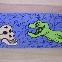 Sea Snake Skate Deck (hand painted)