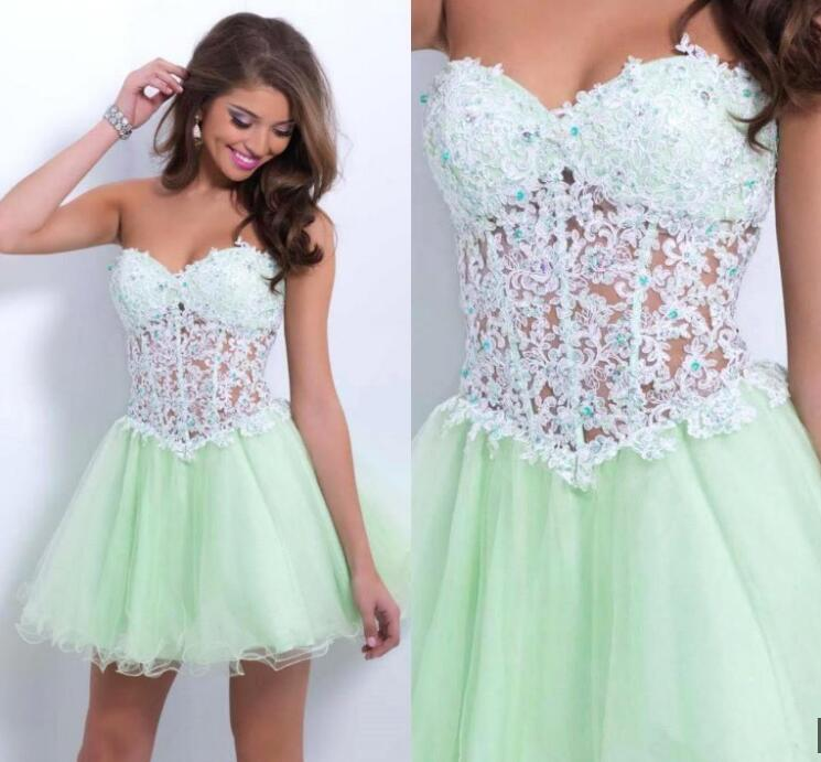 J9 Modest Homecoming Dressshort Homecoming Dresslace Homecoming