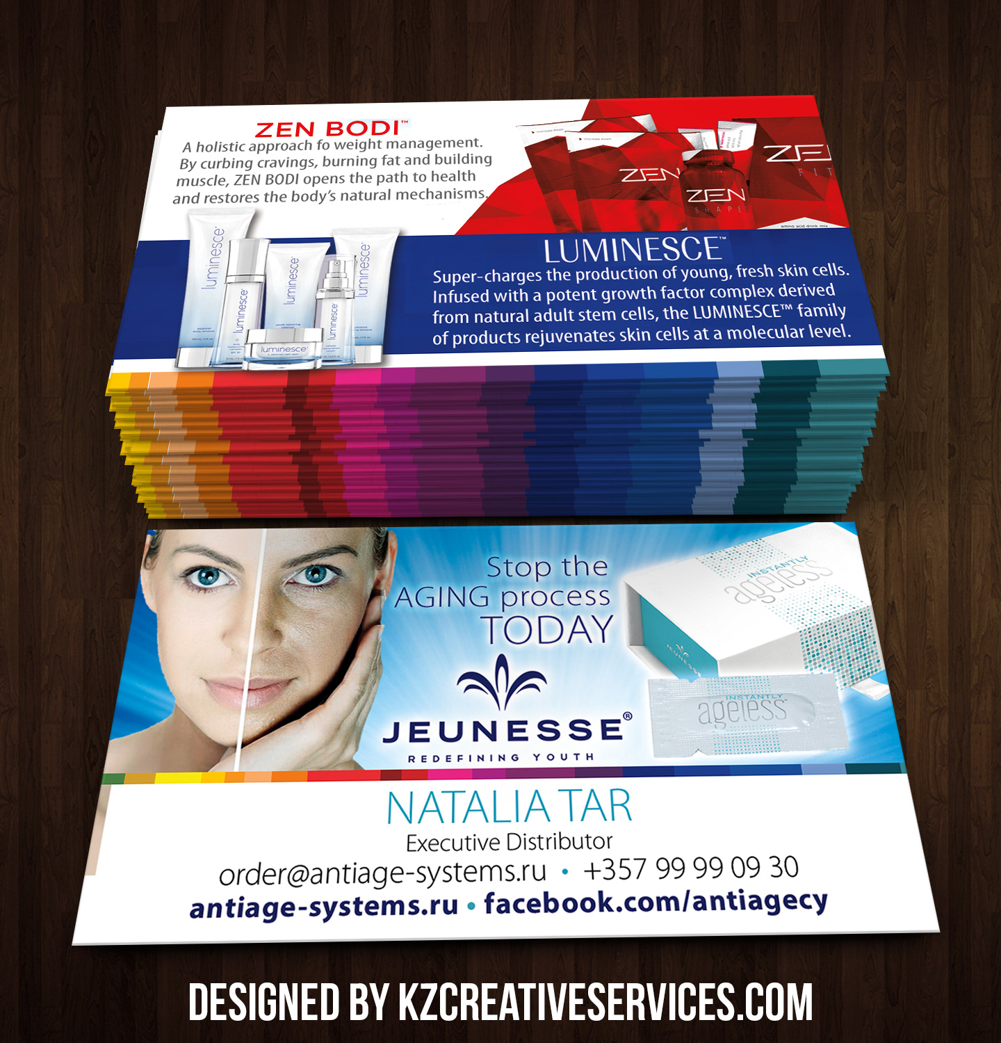 jeunesse business cards style 5  u00b7 kz creative services