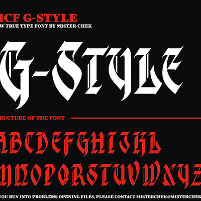 G-style font by mister chek