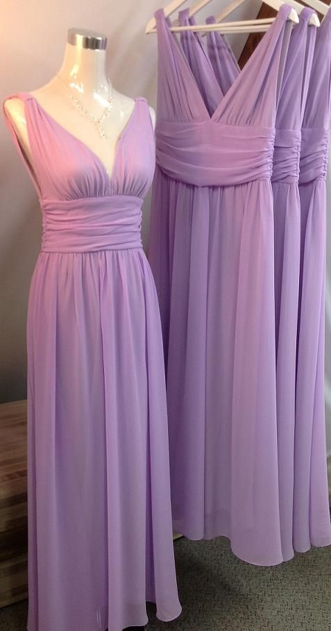 Purple Bridesmaid DressV Neck DressChiffon BridesmaidBrief Long Prom