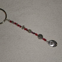 Beaded Keychain Red/Be Yourself