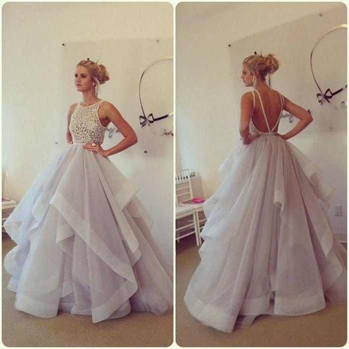 Ball Gown Organza and Lace Wedding Dress Wedding Party Dress Bridal ...