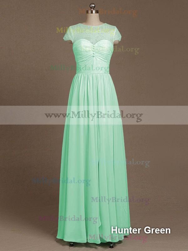 Long Sleeve Chiffon Bridesmaids Dresses