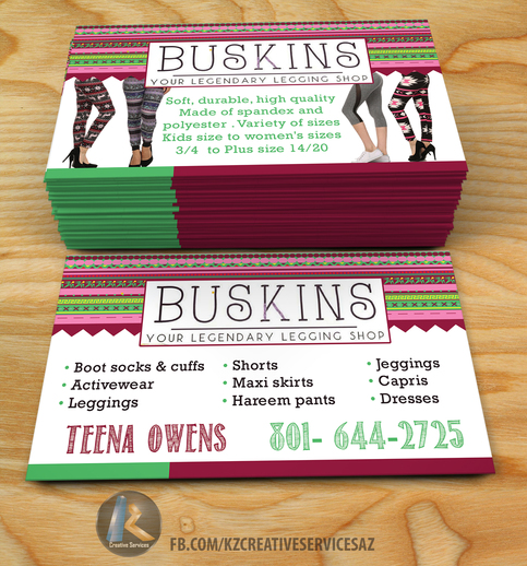 Buskins leggings kz creative services online store for Touchstone promotional products