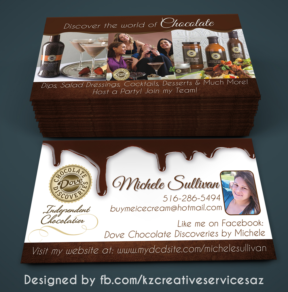 Dove Chocolate Discoveries Business Cards Style 1 Kz Creative