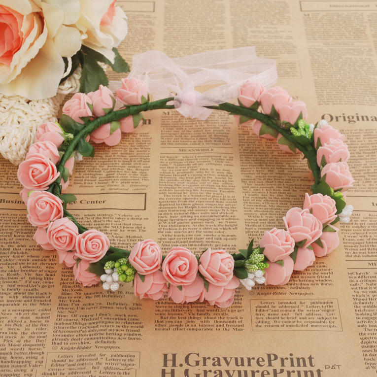 J71 pink flower ramantic classical pink rose garland bridesmaid j71 pink flower ramantic classical pink rose garland bridesmaid flower garland thumbnail 2 mightylinksfo