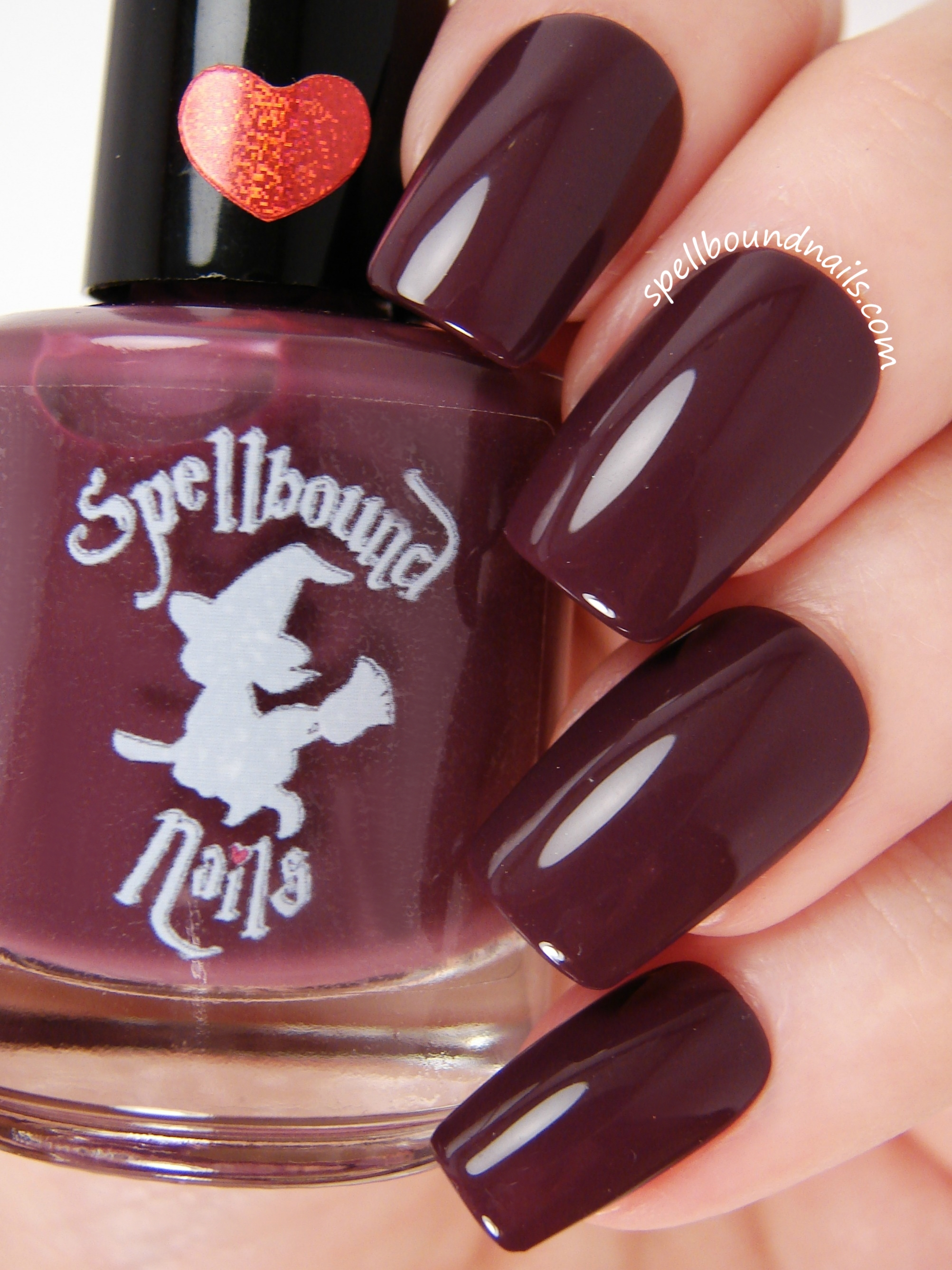 Bewitched - Dark Burgundy Red Creme Nail Polish · Spellbound Nails ...