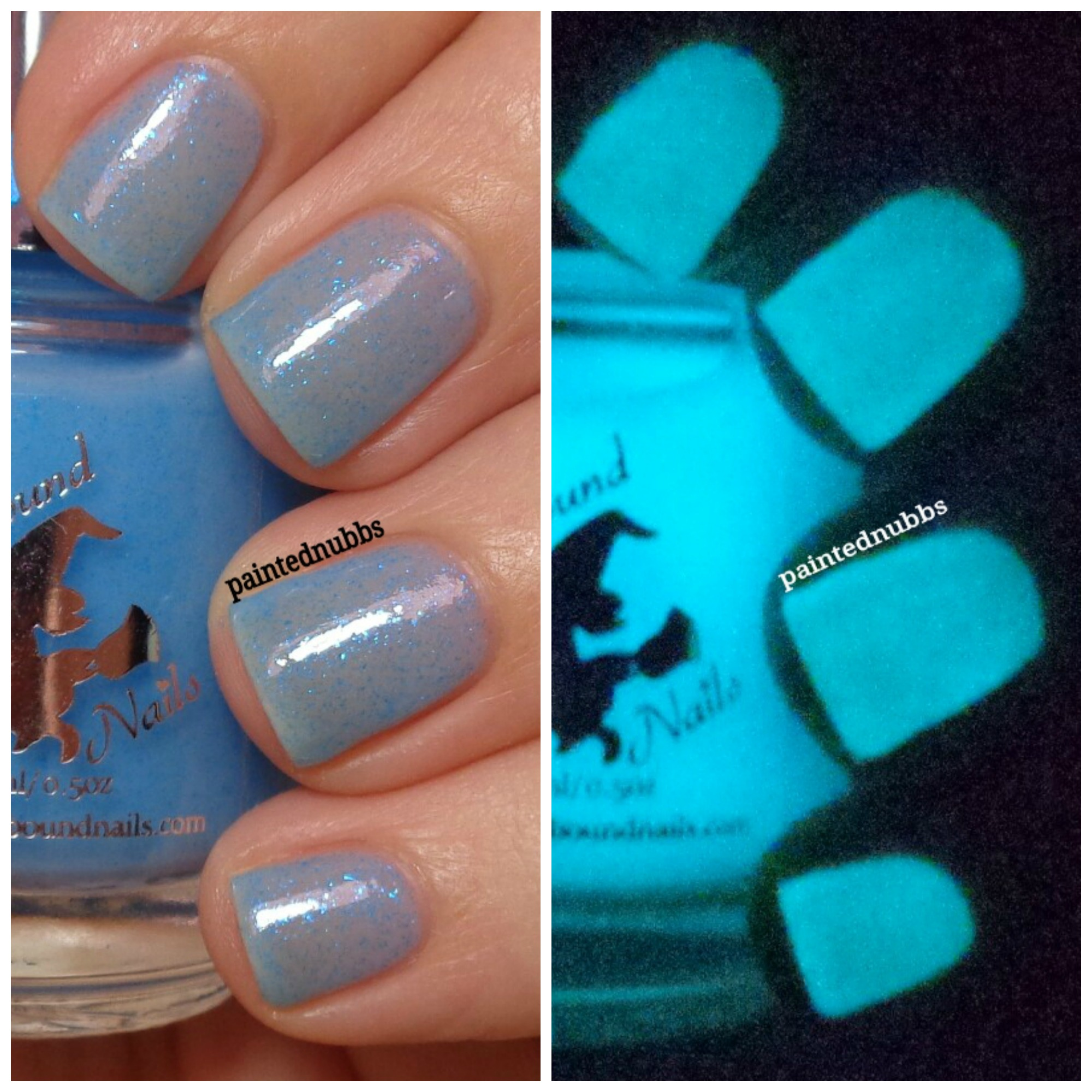 Rain Check - custom sheer jelly blue glow in the dark flakies spring ...