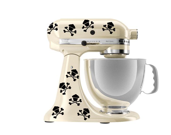 Kitchen Mixer Decals ~ Kitchenaid mixer art skull cupcake decals on storenvy