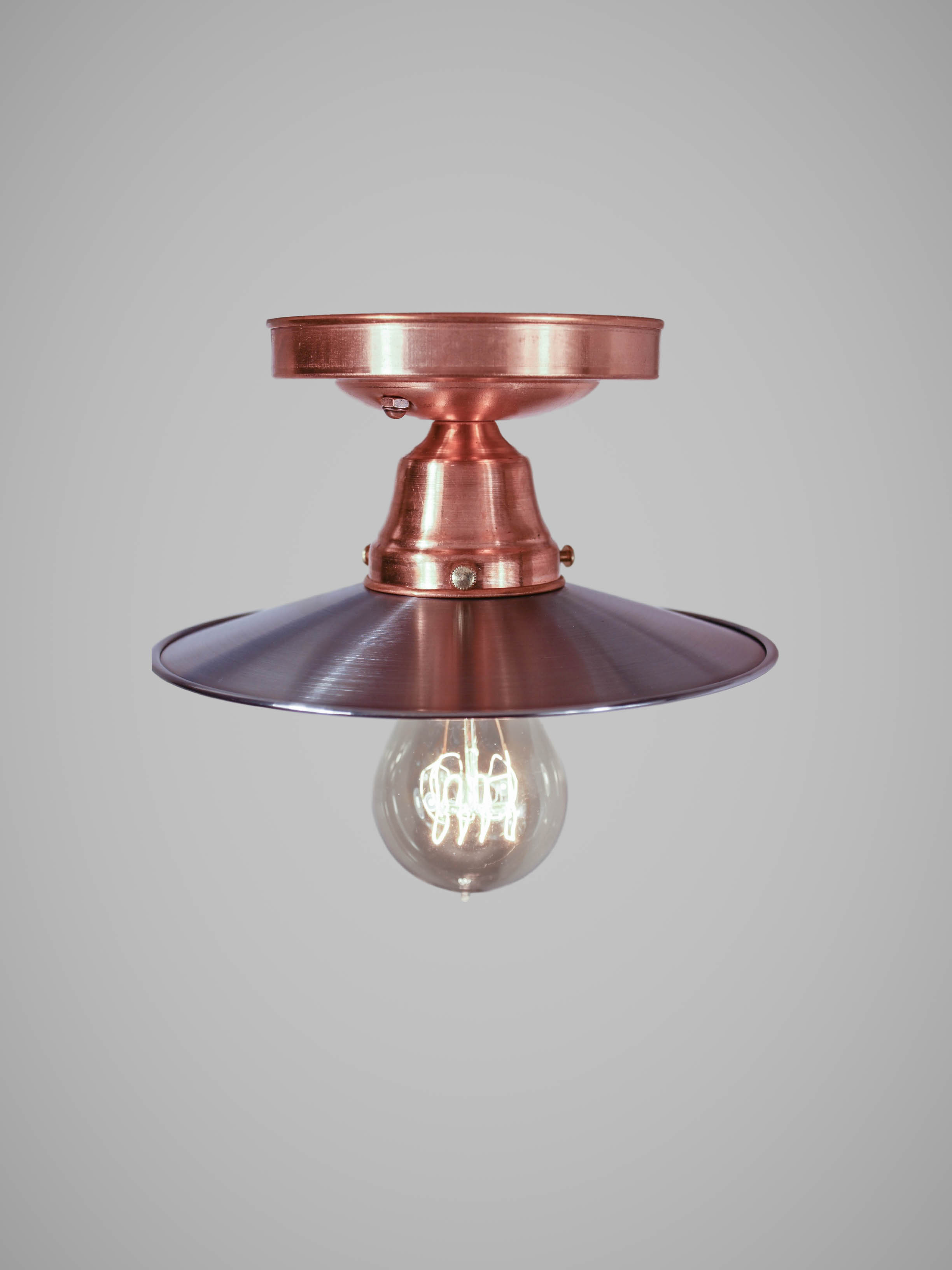Copper Flushmount Ceiling Light Vintage Industrial Steampunk Ceiling Lamp Cafe Bar Library