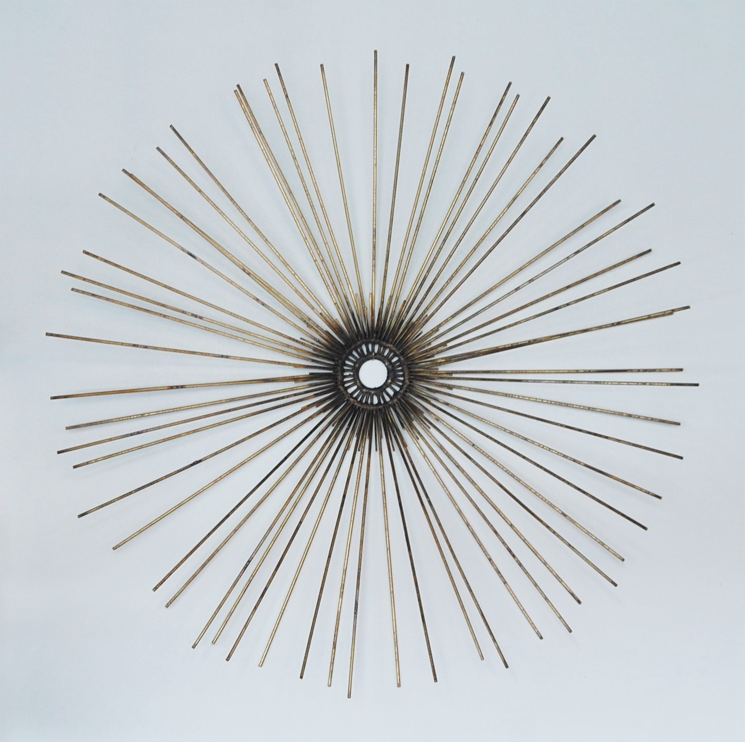 Brass sunburst wall scupture marinus home seattle for Sunburst wall art