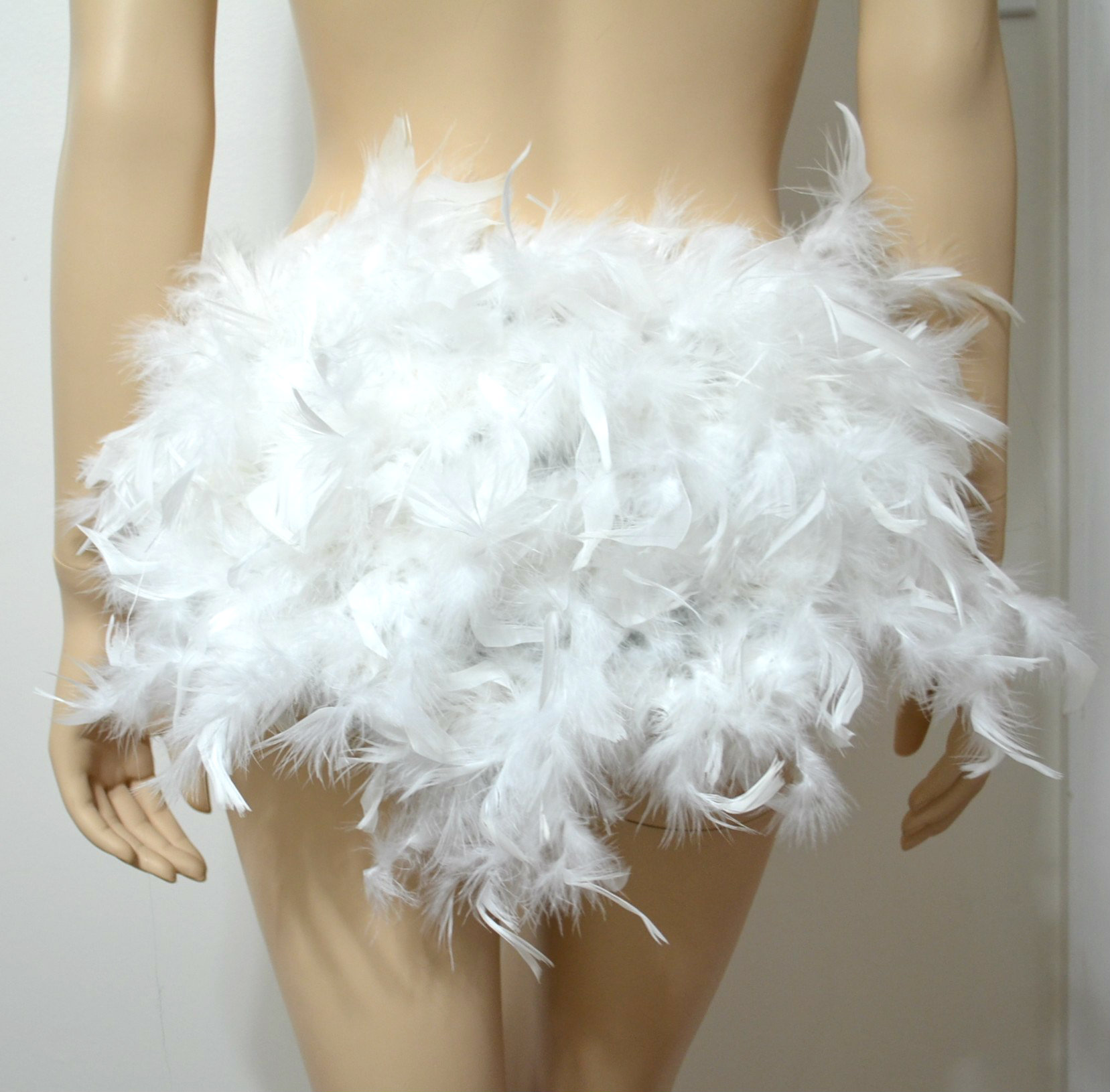 how to make a feather skirt with boas