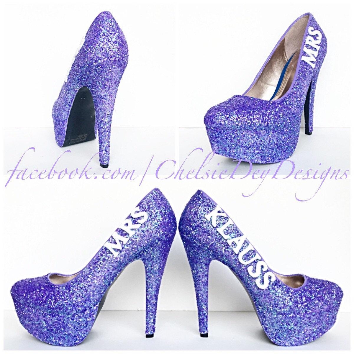Lilac Glitter High Heels