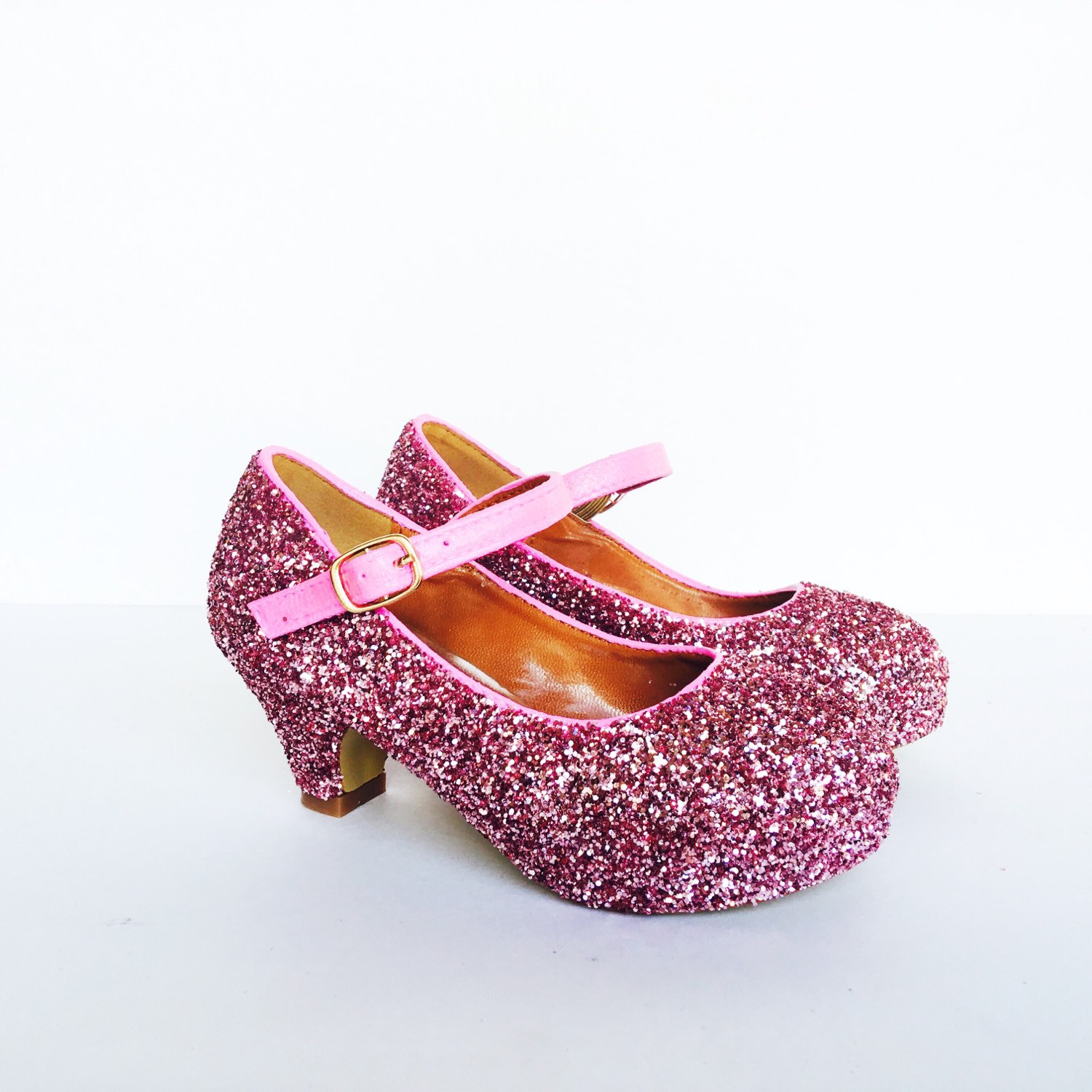 Toddler Glitter Shoes Pink Toddler Girls Heel Bubblegum Light