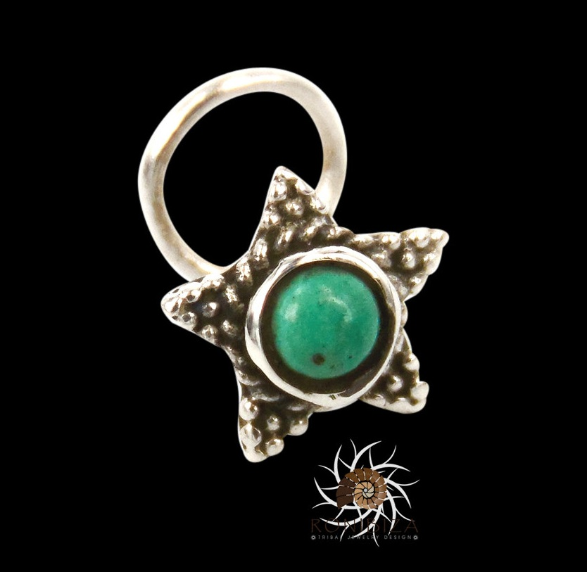 Turquoise Nose Stud - Silver Nose Stud - Tiny Nose Stud - Nose ...