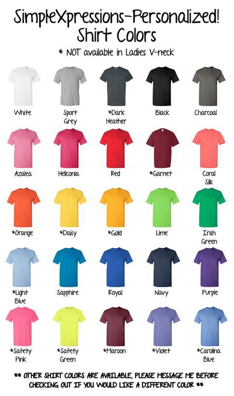 Baseball Shirt Colors